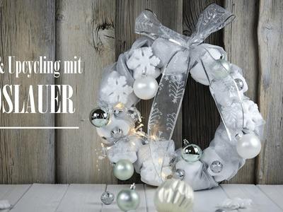 Vöslauer DIY & Upcycling Weihnachtskranz