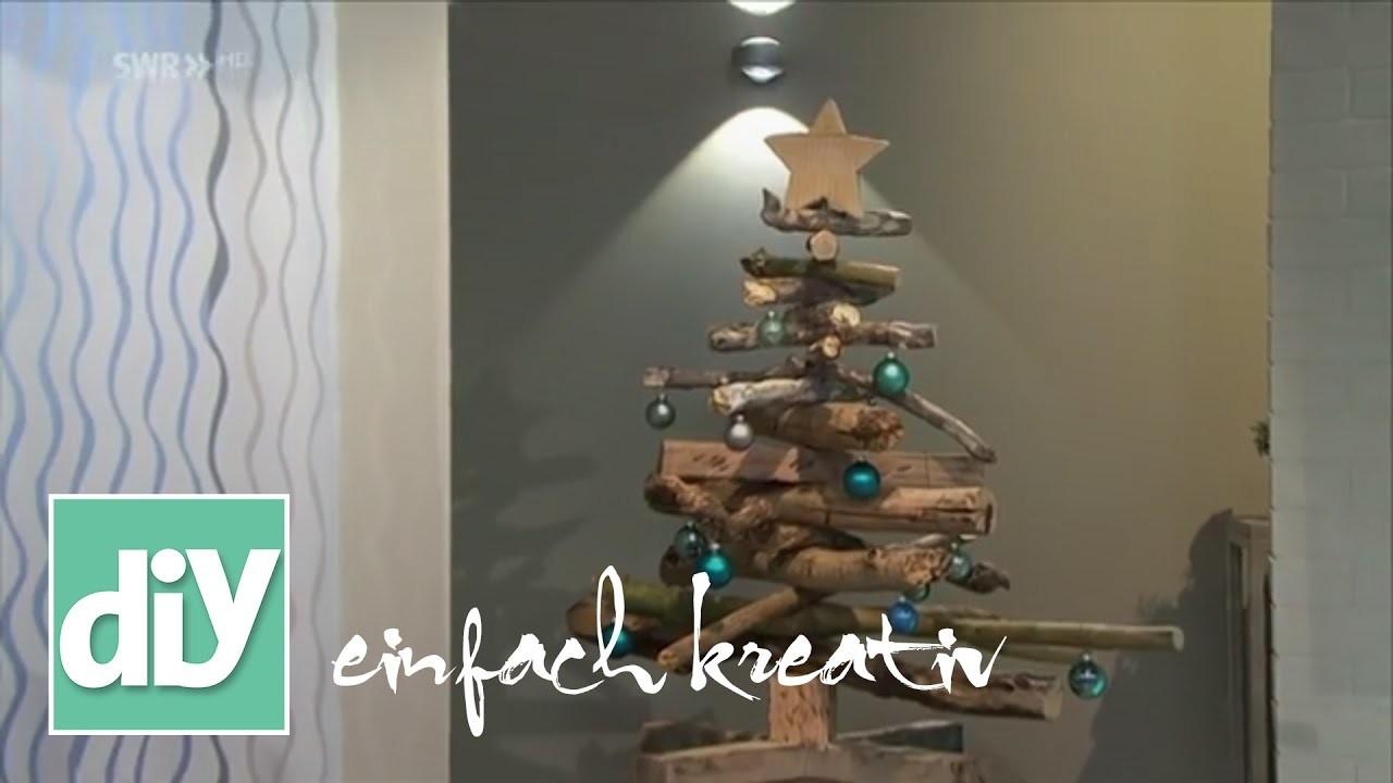 weihnachtsbaum aus treibholz diy einfach kreativ. Black Bedroom Furniture Sets. Home Design Ideas