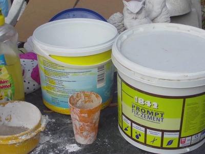 Beton giessen - DIY - Knetbeton - Das Rezept !!!  Variante 1  mit Fix Zement