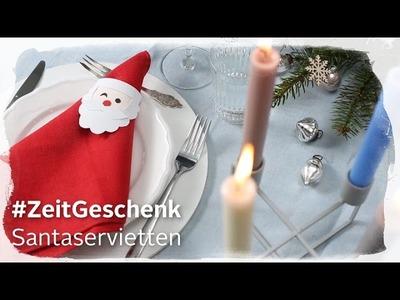 DIY Santaservietten – OTTO Weihnachtskampagne 2016 – #ZeitGeschenk