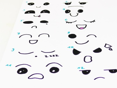 DIY KAWAII Stimmungen zeichnen | verschiedene Gesichtsausdrücke und Emojis selber machen