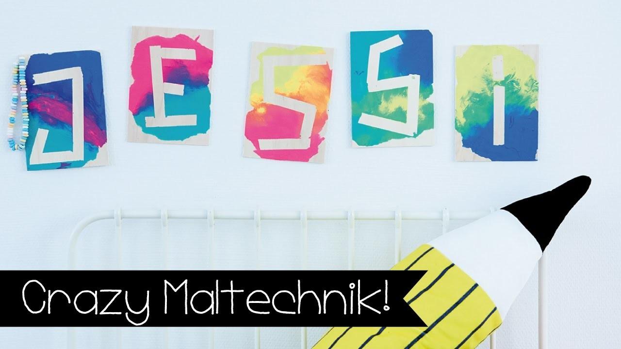 DIY | NAMENSSCHILD SELBER BASTELN | MALTECHNIK