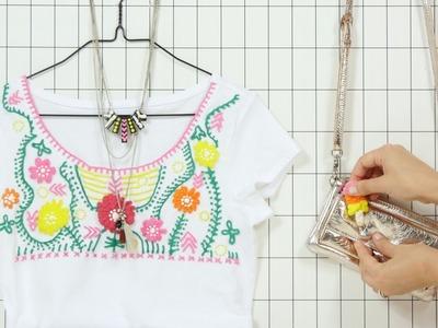 DIY: Plusterfarbe (3D-Effekt) für Shirts, Schmuck & Co.