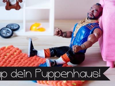 DIY | TEPPICH WEBEN I UPCYCLING I PIMP DEIN PUPPENHAUS