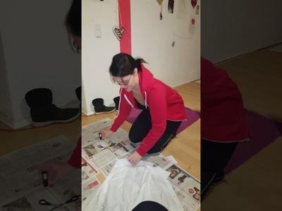 Helloween Kostüm Diy zum nach machen! Weißes Hemd verschmutzen