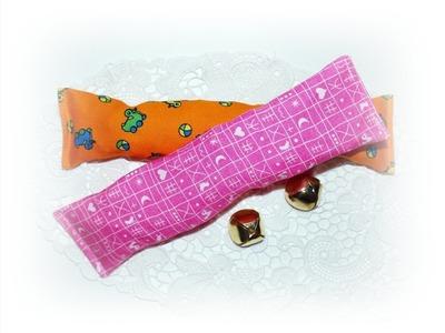 Käthes Nähstunde DIY Baby toy - Babyspielzeug Knisterbänder  mit und ohne Schellen