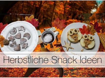 Pinterest Inspiriert | DIY HERBST SNACK-IDEEN | Einfache Herbst Rezepte