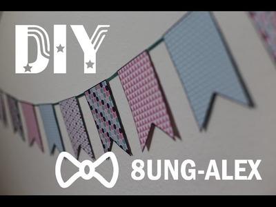 DIY Wimpelkette | Kinderzimmerdeko | 8ung-Alex
