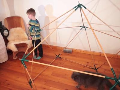 Geodaetischer Dome - das DIY Spielhaus