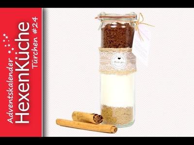 Türchen Nr 24 Last Minute Geschenkidee Backmischung Glühweinkuchen backen Adventskalender DIY