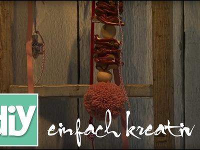 Winterliche Fruchtbommel für die Türe | DIY einfach kreativ
