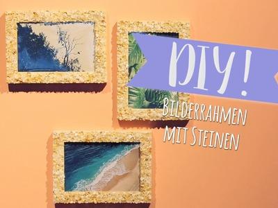 Bilderrahmen mit Steinen DIY   WESTWING DIY-Tipps