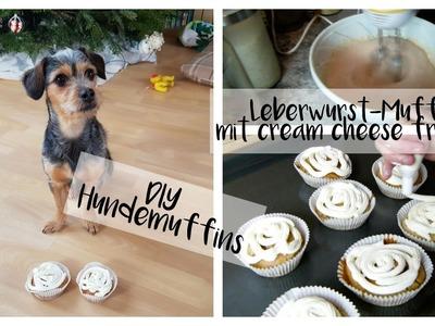 DIY HUNDEMUFFINS   LEBERWURSTMUFFINS MIT CREAM CHEESE FROSTING   LifeOfJule