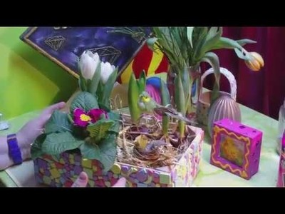 DIY - Obskisten Recycling mit Mosaik - Frühlingserwachen