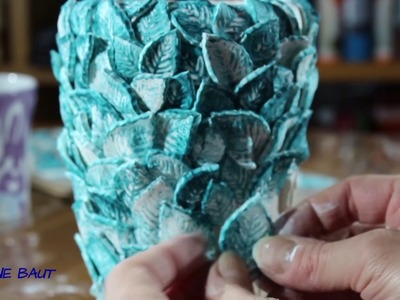 DIY - Vase selbst gestalten - how to make a flower vase