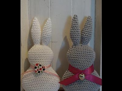 Ostern Dekoration Hase häkeln DIY Crochet Easter Bunny . eng sub
