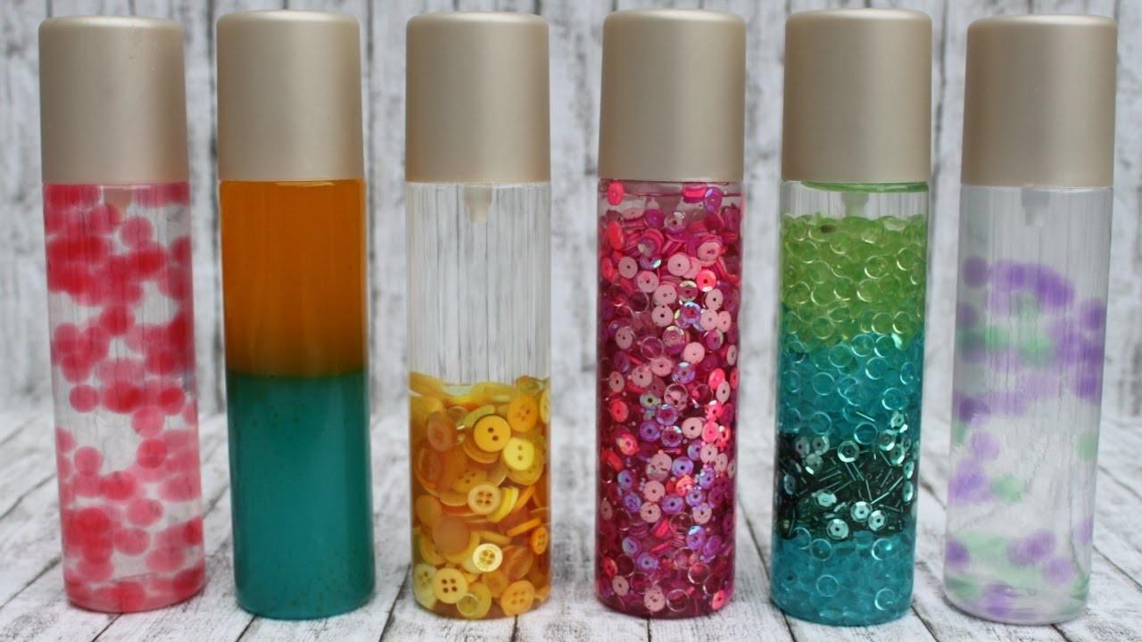 Sensorik-Flaschen selber herstellen. DIY Spielzeug für Kinder (visuelle Wahrnehmung)