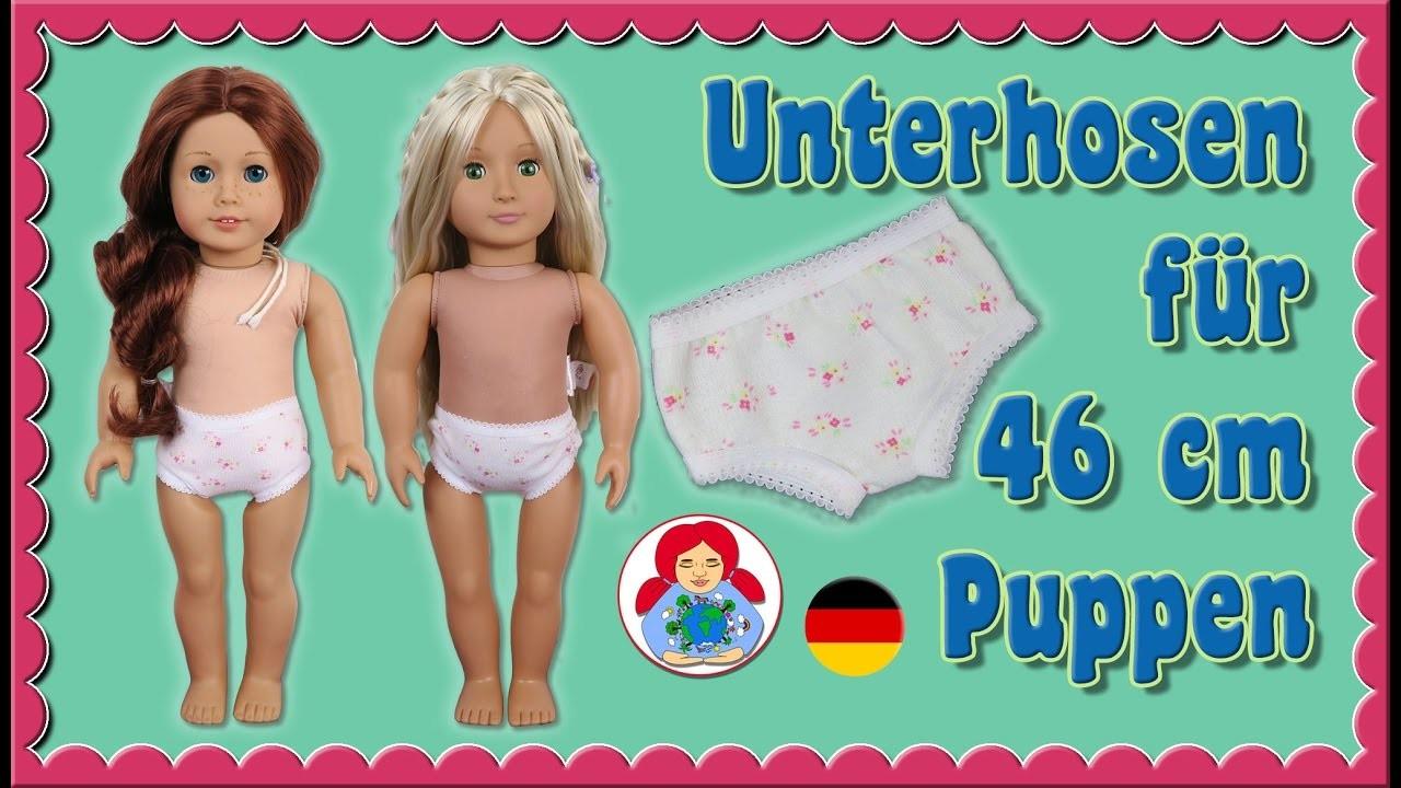 DIY   Unterhose für 46 cm Puppen (Amelie, American Girl, Our Generation) • Sami Doll Tutorials