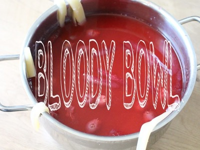 HALLOWEEN Geister BLOODY BOWLE DIY Bluttopf DRINK SNACKS Creoctober