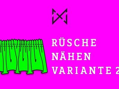 RÜSCHEN NÄHEN DIY (Variante 2)