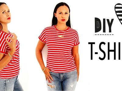 T-Shirt nähen ohne Schnittmuster. DIY MODE Nähanleitung