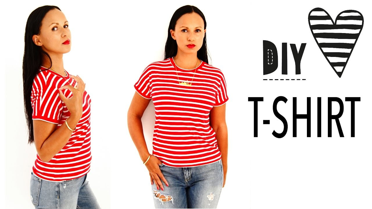 shirt 15 crop top diys lookbook t shirt diys. Black Bedroom Furniture Sets. Home Design Ideas