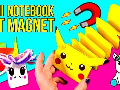 DIY MINI- NOTEBOOK mit MAGNET * UNICORN & PIKACHU Notizbücher