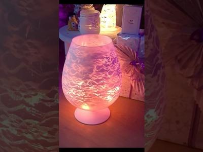 Shabby Chic Windlicht, flinkes Advents DIY