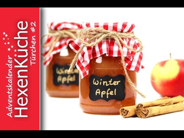 Türchen Nr.2 Winter Apfel Konfitüre Thermomix TM5 Adventskalender DIY