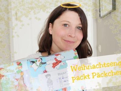 Weihnachtsengel packt Päckchen I DIY Verpackung