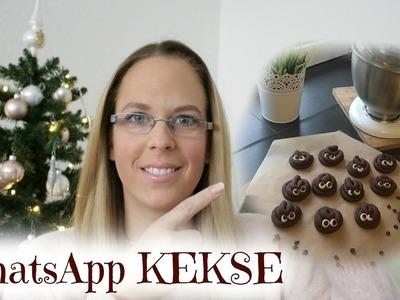 WHATSAPP EMOJI KEKS | DIY Kacki COOKIES selber machen - K. HAUFEN Kekse | VLOGMAS | JessMas#29