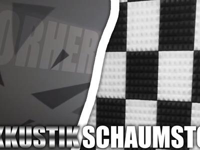 DIY AKKUSTIK-SCHAUMSTOFF kleben (unter 2 EURO!) | ZimmerUpdate #02 | Deutsch | HeyMoritz