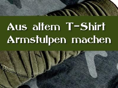 DIY - Do it yourself for Goths - Tutorial - Armstulpen nähen aus T-Shirt - Shirt Recycling