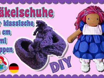 DIY | Häkelschuhe für 20 cm Puppen (Klassischer Sami Schnitt) • Sami Doll Tutorials