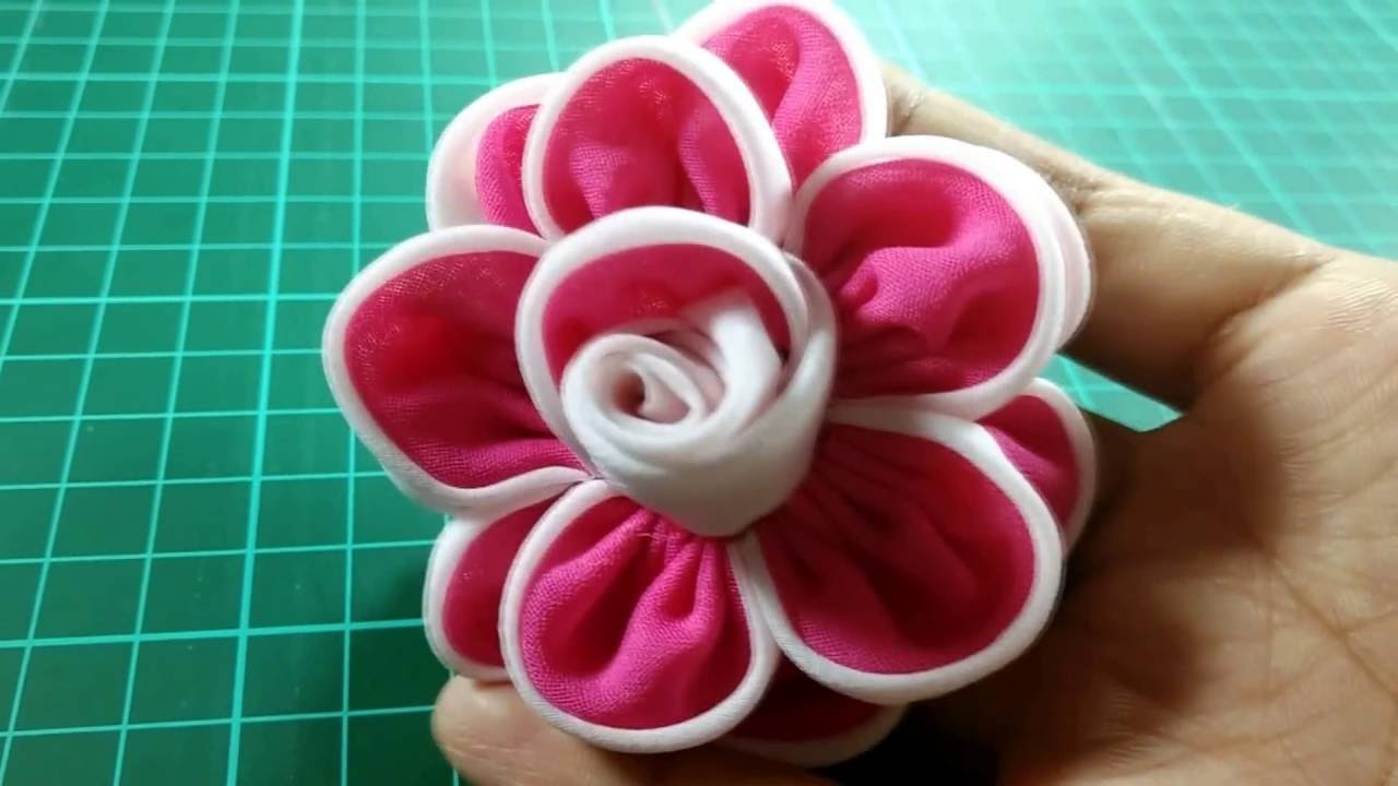 Diy kanzhasi chiffon rose. mawar siffon kanzhasi