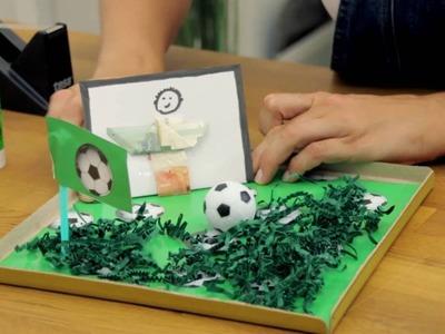 Männergeschenk.Geldgeschenk Fußball DIY | schön-einpacken