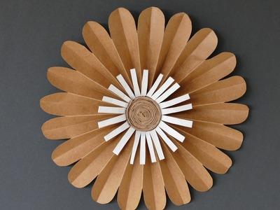 Blume basteln aus Papier – Wohndeko basteln, tinker flower of paper