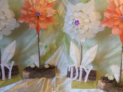 DIY: 2 DEKO-Blumen aus Papier Frühstückstüten BASTELN+ färben, Upsycling-by DIY kekaplauderei