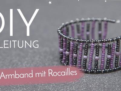 DIY Anleitung - Cuff Armband mit Rocailles