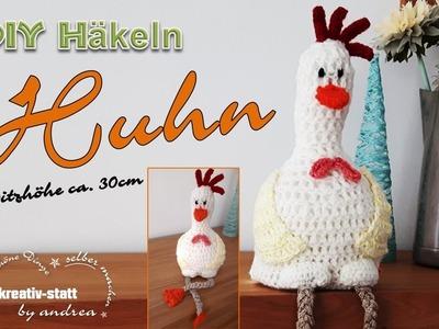 DIY Häkeln Amigurumi für Ostern - Sitzende Henne Huhn ca. 30 cm groß