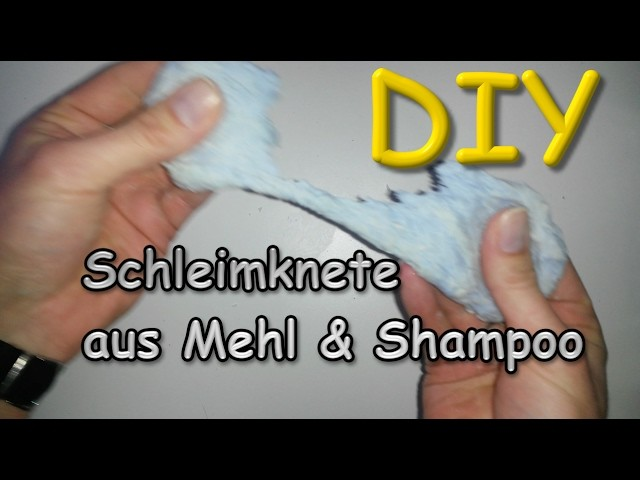 schleim knete aus mehl und shampoo selber machen diy slime tutorial deutsch. Black Bedroom Furniture Sets. Home Design Ideas