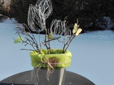 Tulpe aus Gartenbindedraht basteln, Frühling DIY