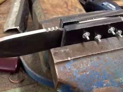 Messer bauen mit einfachsten Mitteln und Böhler N690 Stahl - Gehärtet bei Steigerwald auf 60 HRC