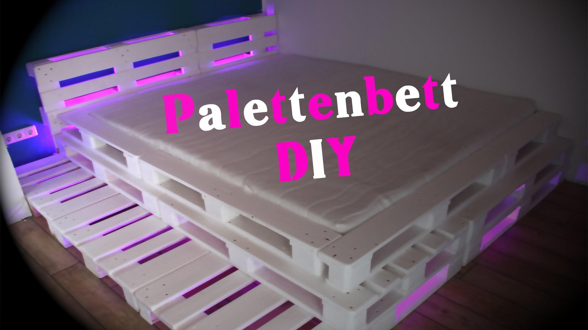 Palettenbett mit LED Beleuchtung DIY - JBTV