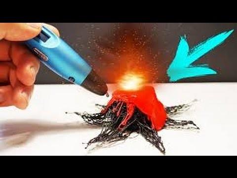3D Stift DIY - Aktives Vulkan malen und mit Ammonium aktivieren