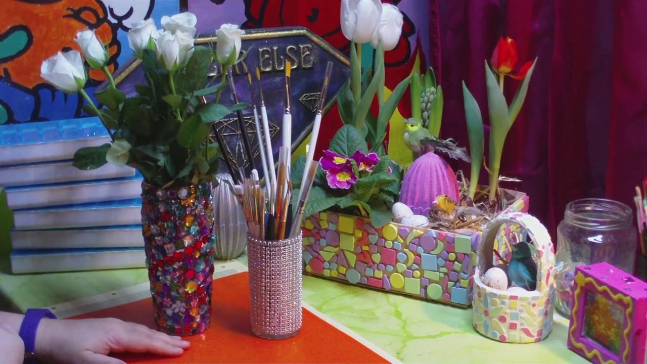 DIY - Eine Vase mit Strass - glamour pur