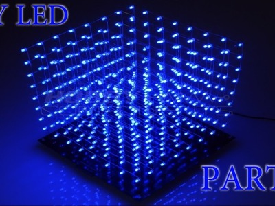 DIY Kit 8x8x8 LED 3D Cube Blau | HD+ | Deutsch