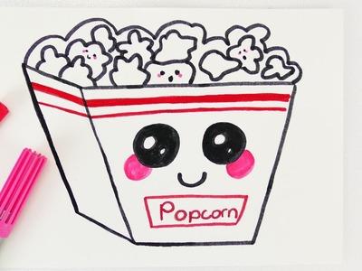 KAWAII POPCORN DIY | süßer Snack für Einladungen und Geburtstagskarten selber machen