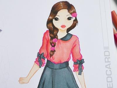 TOPMODEL MALBUCH | ein süßes Mädchen zeichnen | How to draw a cute girl