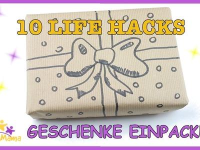 10 LIFE HACKS fürs GESCHENKE EINPACKEN. TIPPS, HACKS & DIYS.Täglich Mama